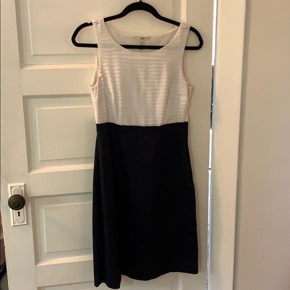 H&M Dresses & Skirts - Navy and white H&M shift dress